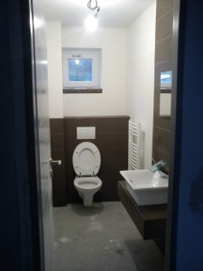 WC po dokončení.